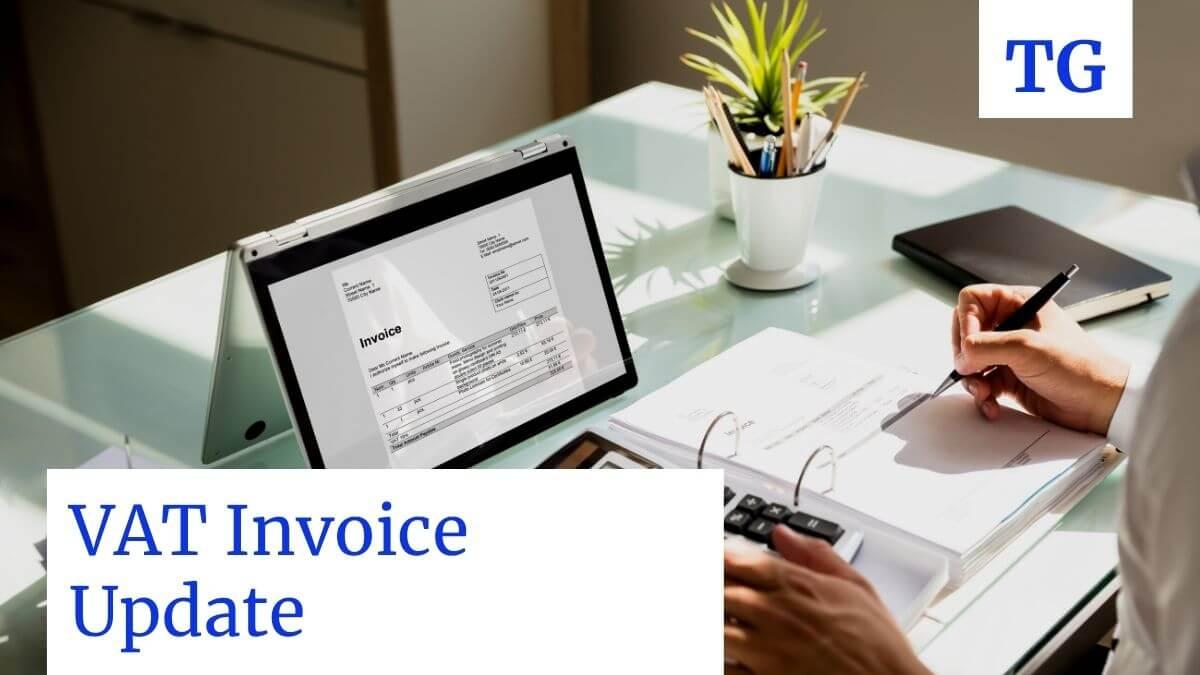 VAT INVOICE UPDATES 2018