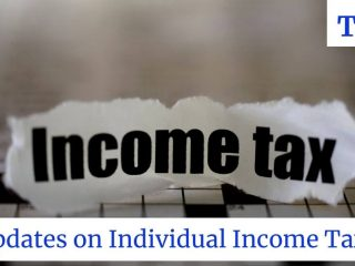 photo with income tax written