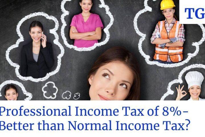 professional tax of 8% tax rate