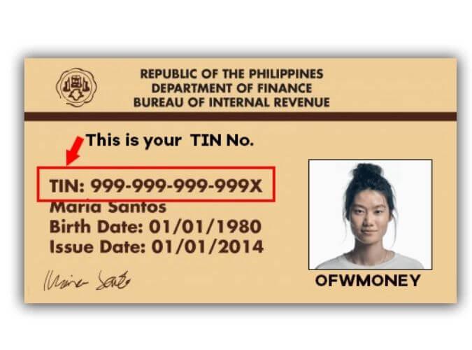 TIN ID sample