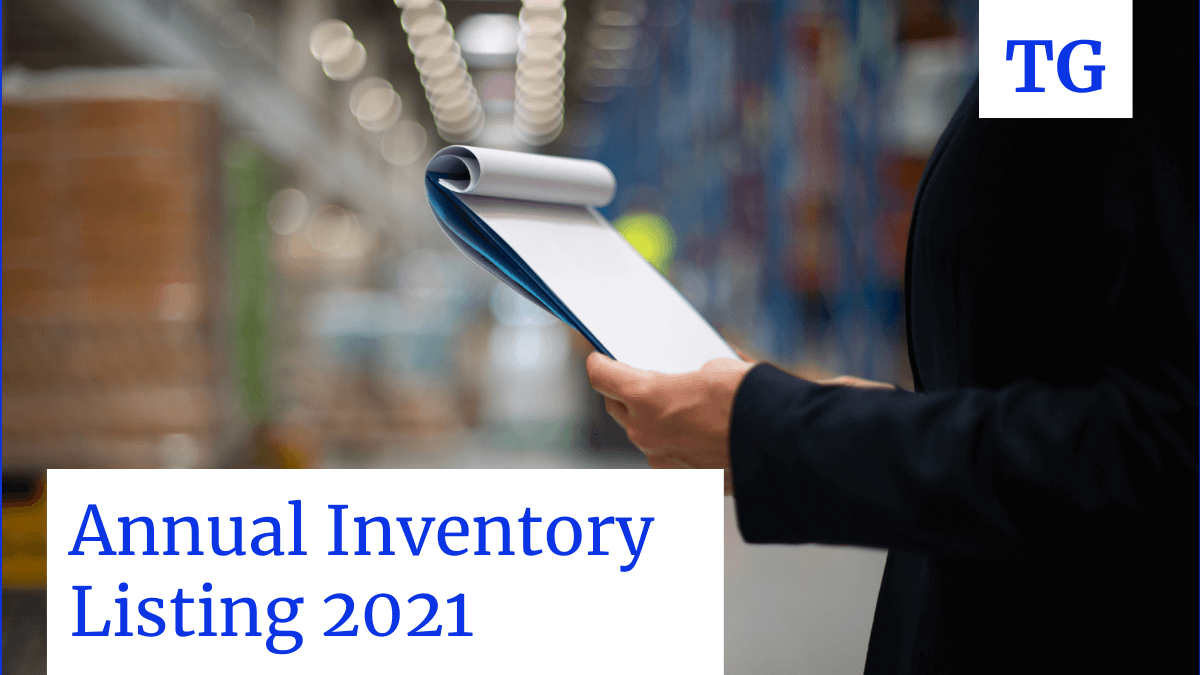 Annual inventory listing