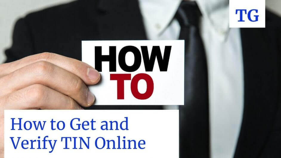 businessman showing how to get TIN number online