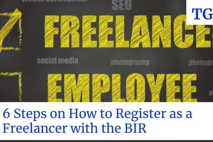 showing freelancer with a title of 6 steps on how to register as a freelancer with the BIR